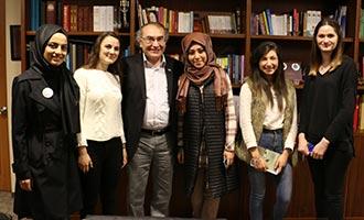 Rektör Tarhan'a öğretmenler günü ziyareti 2