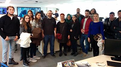 İletişim öğrencileri Anadolu Ajansı'nı ziyaret etti 2