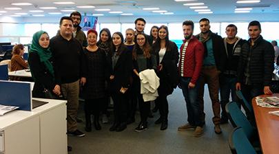 İletişim öğrencileri Anadolu Ajansı'nı ziyaret etti 4