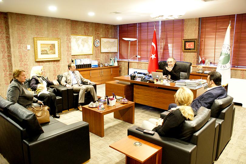 AK Parti Üsküdar İlçe Başkanı Üsküdar Üniversitesi'ni ziyaret etti.