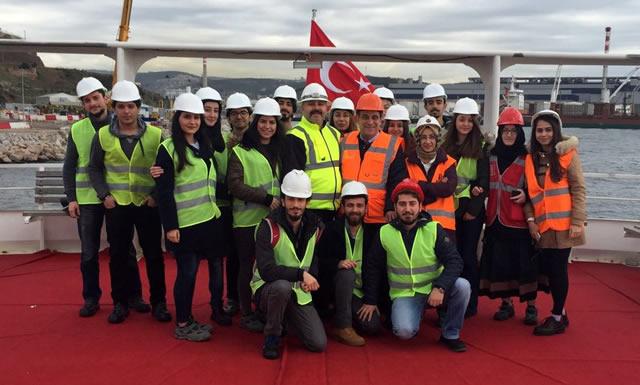Üsküdar Üniversitesi İSG öğrencileri Körfez Köprüsünde incelemelerde bulundu