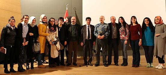Psikolog Doğan Cüceloğlu, Üsküdar Üniversitesi'ndeydi