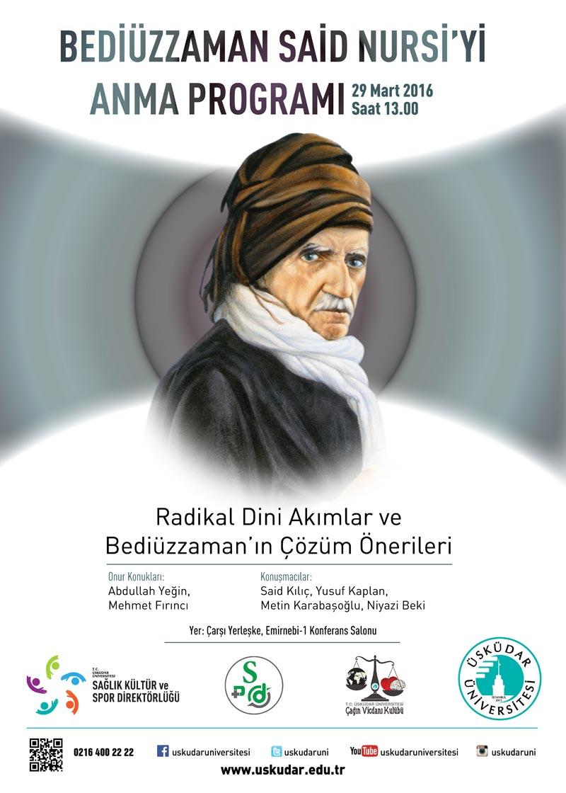 Bediüzzaman Said Nursi Üsküdar Üniversitesi'nde anılıyor
