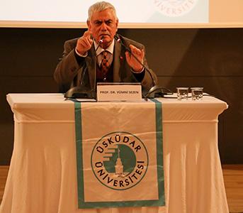 Prof. Dr. Yumni Sezen, Üsküdar Üniversitesi'nde konferans verdi