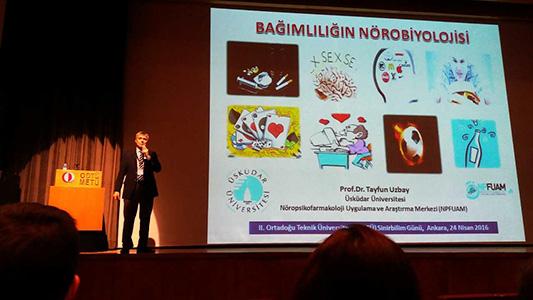 """Prof.Dr. Tayfun Uzbay, ODTÜ'de """"Bağımlılığın Nörobiyolojisi""""ni anlattı."""
