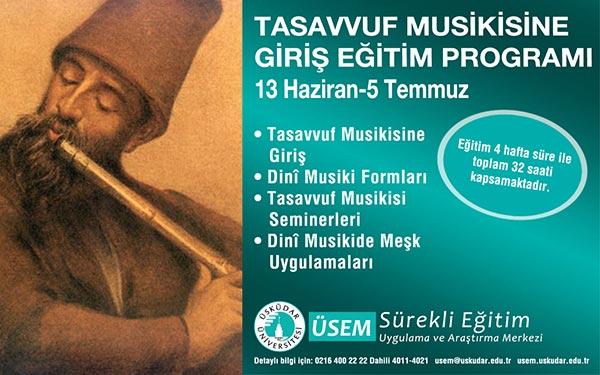 Üsküdar Üniversitesi'nde, Tasavvuf Musikisine Giriş Eğitim Programı başlıyor