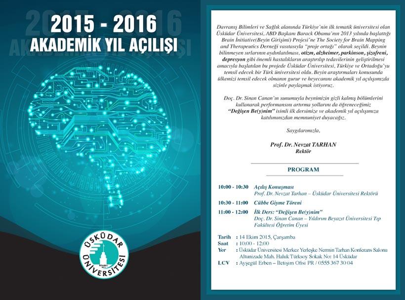 Üsküdar Üniversitesi 2015-2016 Akademik Yıl Açılış Programı