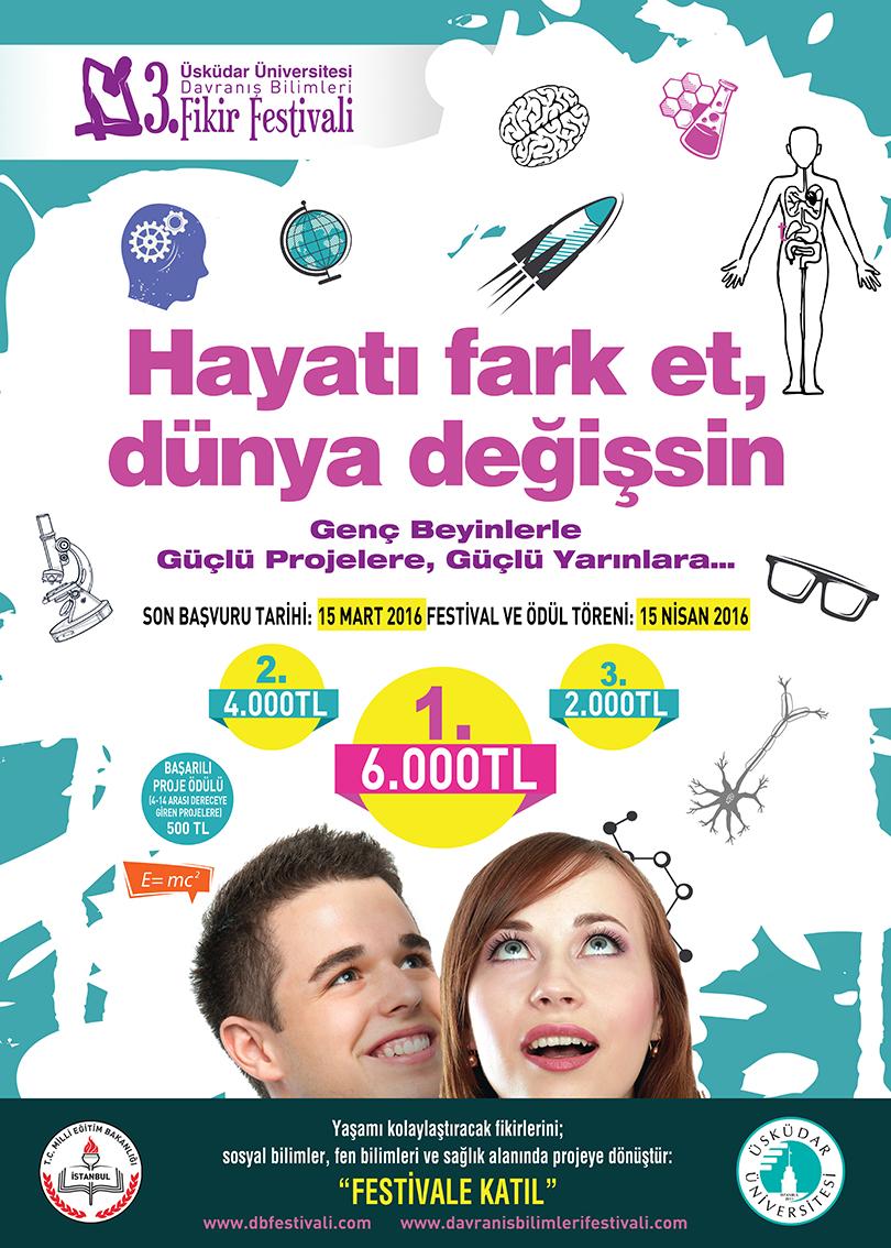 3. Davranış Bilimleri Fikir Festivali'ne başvuru için son gün 15 Mart